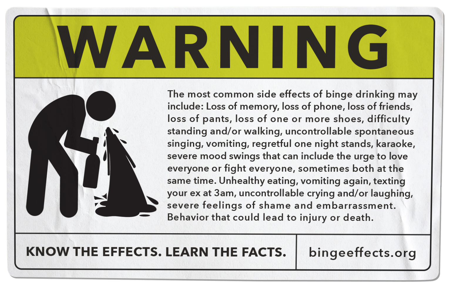 Binge Effects Warning Label