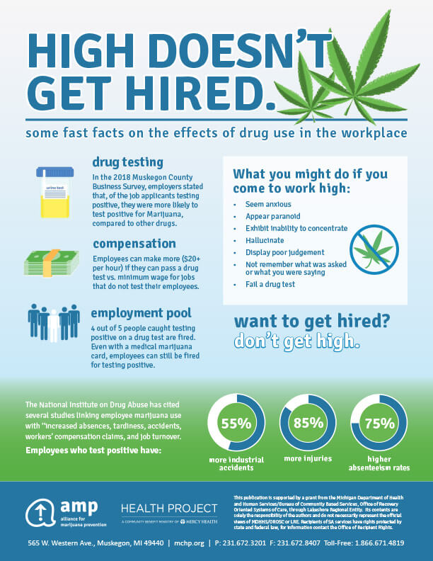 High Doesn't Get Hired Infographic