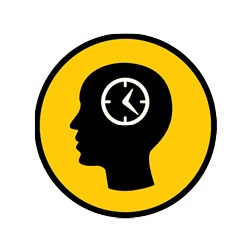 Amp Icons-Brain And Timeclock