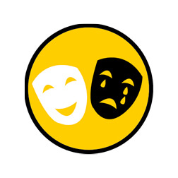 Amp Icons-happy Face And Sad Face