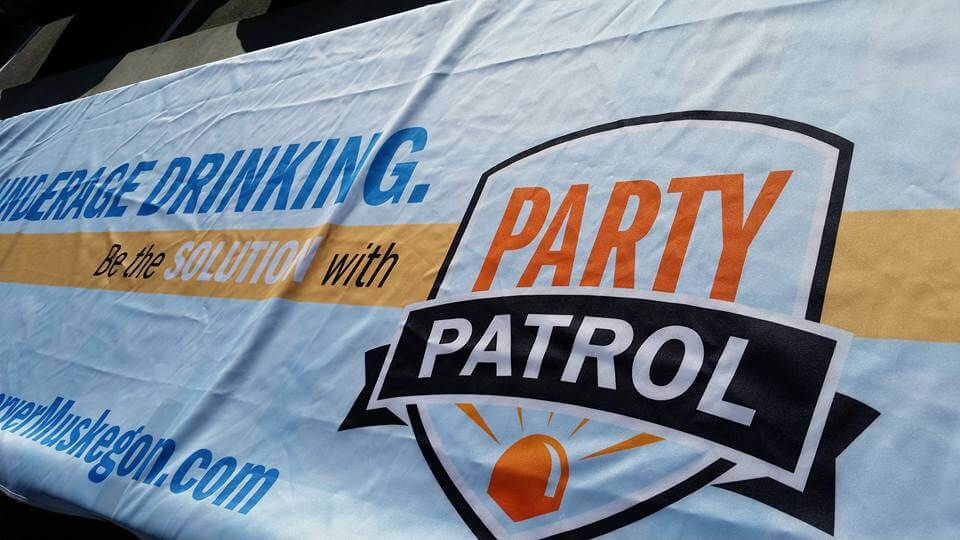 Close Up Of Party Patrol Logo
