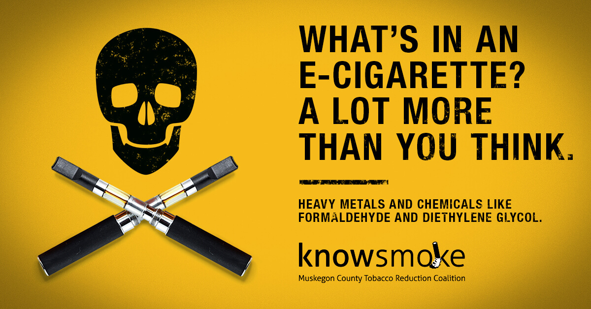 What's in an e-cigarette? A lot more than you think. Heavy metals and chemicals like formaldehyde and diethylene glycol